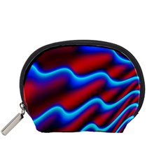 Wave Pattern Background Curve Accessory Pouches (small)