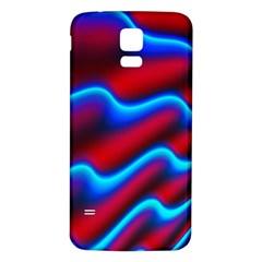 Wave Pattern Background Curve Samsung Galaxy S5 Back Case (white)