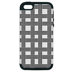 Seamless Stripe Pattern Lines Apple Iphone 5 Hardshell Case (pc+silicone)