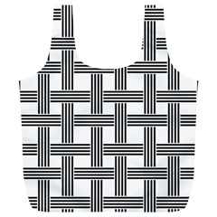 Seamless Stripe Pattern Lines Full Print Recycle Bags (l)