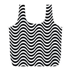 Wave Pattern Wavy Water Seamless Full Print Recycle Bags (l)