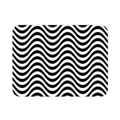Wave Pattern Wavy Water Seamless Double Sided Flano Blanket (mini)