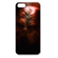 Monster Demon Devil Scary Horror Apple Seamless Iphone 5 Case (clear)