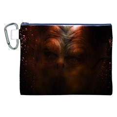 Monster Demon Devil Scary Horror Canvas Cosmetic Bag (xxl)