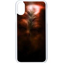Monster Demon Devil Scary Horror Apple Iphone X Seamless Case (white)