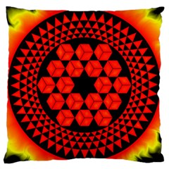 Geometry Maths Design Mathematical Large Cushion Case (two Sides)