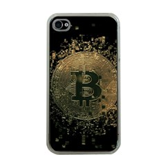 Bitcoin Cryptocurrency Blockchain Apple Iphone 4 Case (clear)