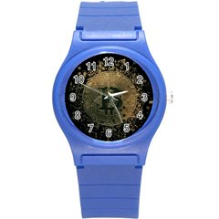 Bitcoin Cryptocurrency Blockchain Round Plastic Sport Watch (s)