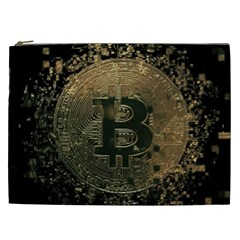 Bitcoin Cryptocurrency Blockchain Cosmetic Bag (xxl)