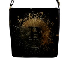 Bitcoin Cryptocurrency Blockchain Flap Messenger Bag (l)
