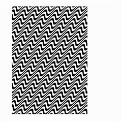 White Line Wave Black Pattern Large Garden Flag (two Sides)
