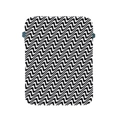 White Line Wave Black Pattern Apple Ipad 2/3/4 Protective Soft Cases