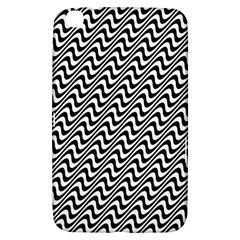 White Line Wave Black Pattern Samsung Galaxy Tab 3 (8 ) T3100 Hardshell Case