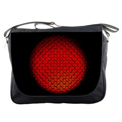 Sphere 3d Geometry Structure Messenger Bags