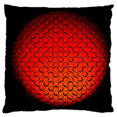 Sphere 3d Geometry Structure Large Cushion Case (one Side)