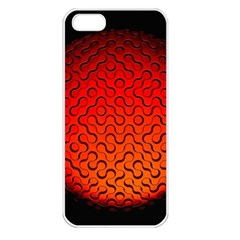 Sphere 3d Geometry Structure Apple Iphone 5 Seamless Case (white)