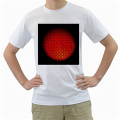 Sphere 3d Geometry Structure Men s T Shirt (white)