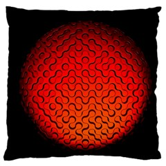 Sphere 3d Geometry Structure Large Flano Cushion Case (one Side)