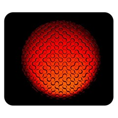 Sphere 3d Geometry Structure Double Sided Flano Blanket (small)