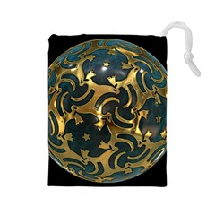 Sphere Orb Decoration 3d Drawstring Pouches (large)