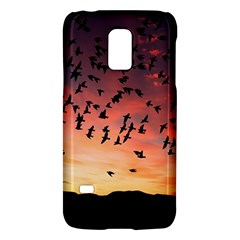 Sunset Dusk Silhouette Sky Birds Galaxy S5 Mini