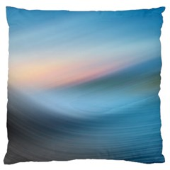 Wave Background Pattern Abstract Lines Light Large Cushion Case (one Side)