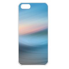 Wave Background Pattern Abstract Lines Light Apple Iphone 5 Seamless Case (white)