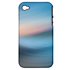 Wave Background Pattern Abstract Lines Light Apple Iphone 4/4s Hardshell Case (pc+silicone)