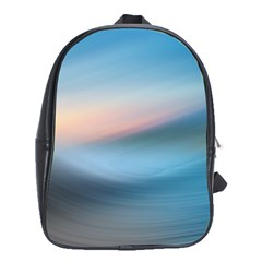 Wave Background Pattern Abstract Lines Light School Bag (xl)