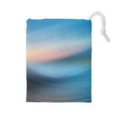 Wave Background Pattern Abstract Lines Light Drawstring Pouches (large)