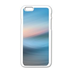 Wave Background Pattern Abstract Lines Light Apple Iphone 6/6s White Enamel Case