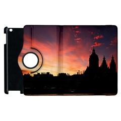 Sunset Silhouette Sun Sky Evening Apple Ipad 2 Flip 360 Case