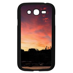 Sunset Silhouette Sun Sky Evening Samsung Galaxy Grand Duos I9082 Case (black)