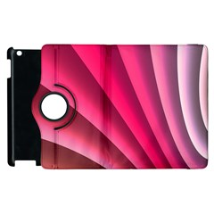 Wave Pattern Structure Texture Colorful Abstract Apple Ipad 2 Flip 360 Case