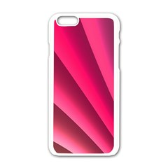 Wave Pattern Structure Texture Colorful Abstract Apple Iphone 6/6s White Enamel Case