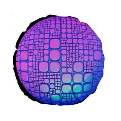Sphere 3d Futuristic Geometric Standard 15  Premium Round Cushions