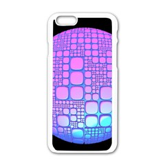 Sphere 3d Futuristic Geometric Apple Iphone 6/6s White Enamel Case