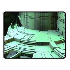 Futuristic Urban Architecture Double Sided Fleece Blanket (small)