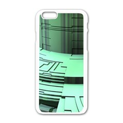 Futuristic Urban Architecture Apple Iphone 6/6s White Enamel Case