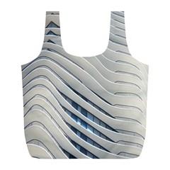 Aqua Building Wave Full Print Recycle Bags (l)