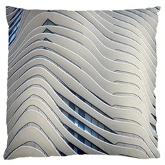 Aqua Building Wave Standard Flano Cushion Case (two Sides)
