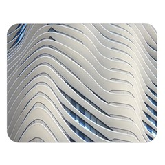 Aqua Building Wave Double Sided Flano Blanket (large)