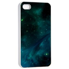 Green Space All Universe Cosmos Galaxy Apple Iphone 4/4s Seamless Case (white)