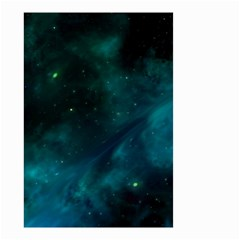 Green Space All Universe Cosmos Galaxy Small Garden Flag (two Sides)