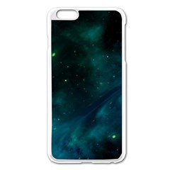 Green Space All Universe Cosmos Galaxy Apple Iphone 6 Plus/6s Plus Enamel White Case