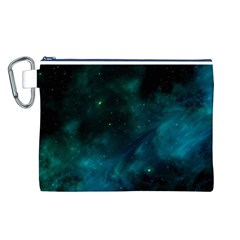 Green Space All Universe Cosmos Galaxy Canvas Cosmetic Bag (l)