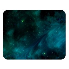 Green Space All Universe Cosmos Galaxy Double Sided Flano Blanket (large)