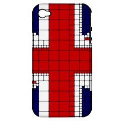 Union Jack Flag Uk Patriotic Apple Iphone 4/4s Hardshell Case (pc+silicone)