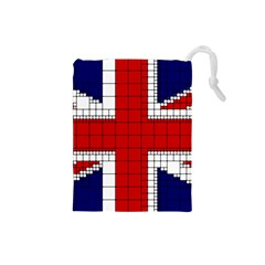 Union Jack Flag Uk Patriotic Drawstring Pouches (small)