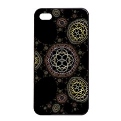 Background Pattern Symmetry Apple Iphone 4/4s Seamless Case (black)